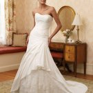 Soft Sweetheart Neckline Beaded Strapless A-line Wedding Dress MC0001