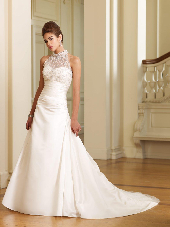 Gorgeous High-neck A-line Wedding Dress MC0004