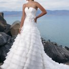 Gorgeous Multi-layer Strapless Organza Wedding Dress WM0008
