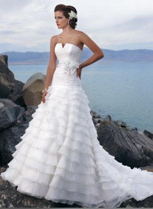 Gorgeous Multi-layer Strapless Organza Wedding Dress WM0008
