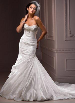 Nice Appliqued Sweetheart Strapless Mermaid Wedding Dress WM0017