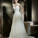 Wedding Dresses/ Wedding Gowns -- Nice Pleated V-neck Chiffon Wedding Dress SB0008