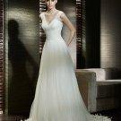Wedding Dresses/ Wedding Gowns -- Nice Pleated V-neck Chiffon Wedding Dress SB0008