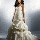 Ruffled Spaghetti Strap Ball Gown Wedding Dress AA0011