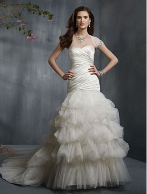 Wedding Dresses/ Wedding Gowns -- Stunning Ruffled Multi-layer Ball Gown Wedding Dress AA0036