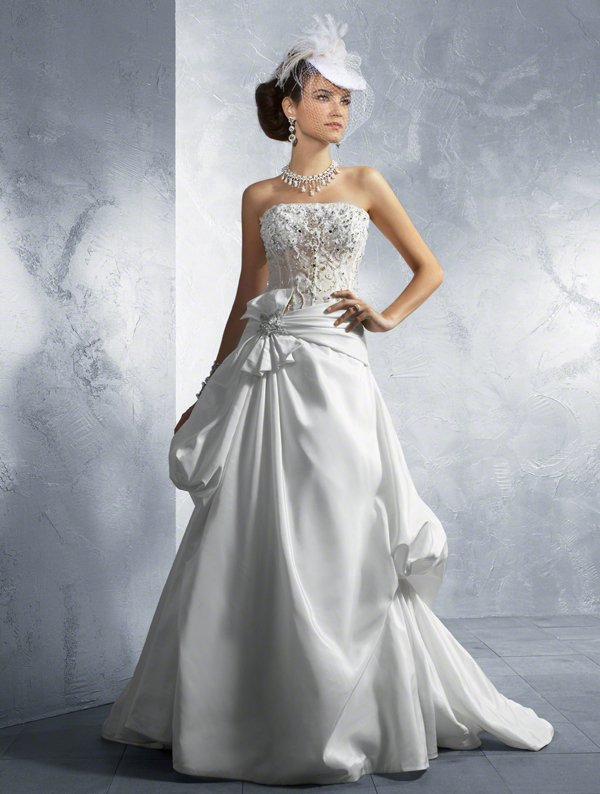 Sexy see through bodice with gathered skirt a line wedding for Wedding dress with see through lace bodice