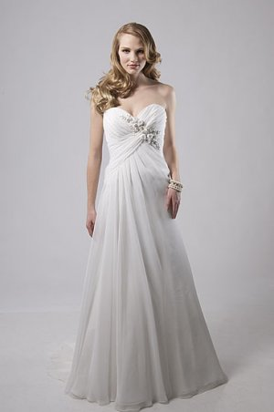 Nice Pleated Sweetheart Strapless A-line Wedding Dress AS0023