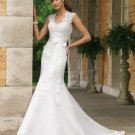 MC0011 Stunning /Sleeveless Hollow-back Mermaid Wedding Dress