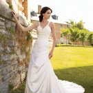 MC0031 Skillfully Pleated Spaghetti Strap A-line Wedding Dress