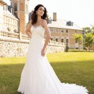 MC0033 Beaded Sweetheart Strapless A-line Chiffon Wedding Dress