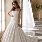 MC1001 Gorgeous Appliqued Sweetheart Strapless Wedding Dress