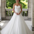 MC1006 Sweetheart Strapless Natural A-line Wedding Dress