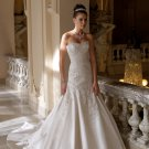 MC1007 Sweetheart Strapless A-line Satin Wedding Dress