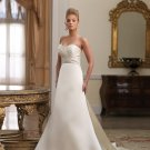 MC0045 Stunning Sweetheart Strapless Empire A-line Satin Wedding Dress