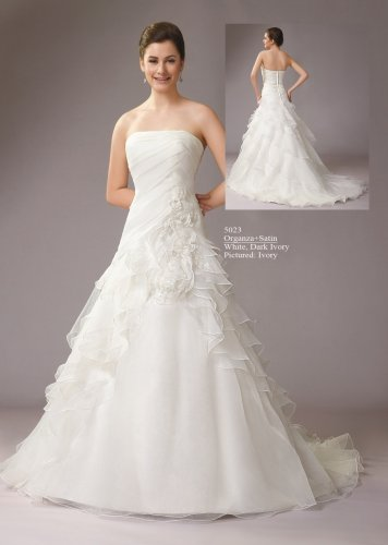 Gorgeous Strapless Stack-up Organza Wedding Dress AM0007