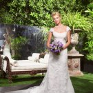 Wedding Dresses/ Wedding Gowns -- Cap-sleeve Lace Bridal Gown WJ0009