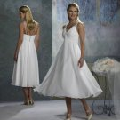 Halter T-length Short Bridal Wedding Dress WS0001