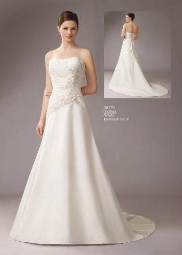 Asymmetrically Wraped Strapless A-line Wedding Dress AM0001