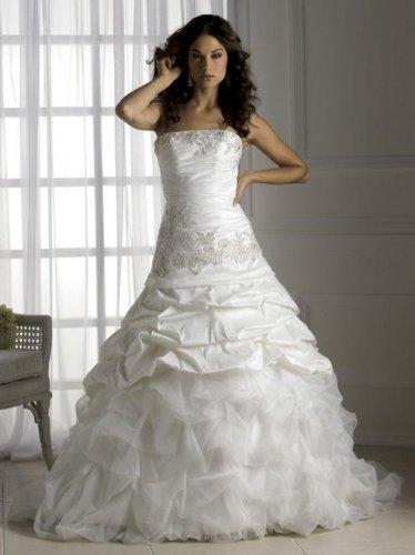 Appliqued Strapless Stack-up Wedding Dress JC0020
