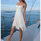 Wedding Dresses/ Wedding Gowns -- Strapless Chiffon Bridal Gown WS0032