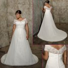 Wedding Dresses/ Wedding Gowns -- Cap-sleeve Plus Size Bridal Gown PS0008