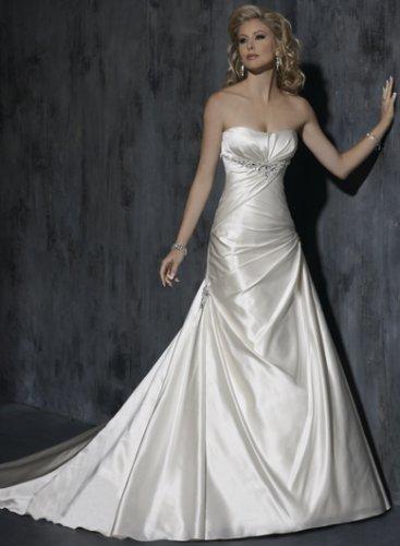Custom Made Strapless Satin Wedding Dress RD0031