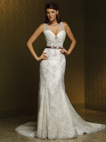 Trumpet Style Organza Bridal Wedding Dresses MS0023