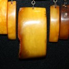VINTAGE RUSSIAN 875 SILVER BALTIC AMBER NECKLACE INCLUSION USSR  Soviet