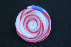 Red White & Blue Round Swirl Shaped Ring