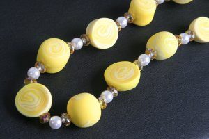 Canary and Pastel Yellow Necklace