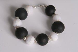 Black and White Chunky Bracelet
