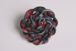 Large Black Red and Gray Ring