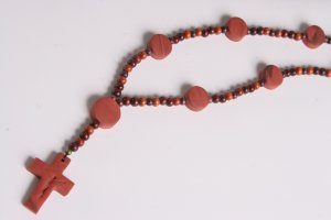 Brown and Burgundy Rosary