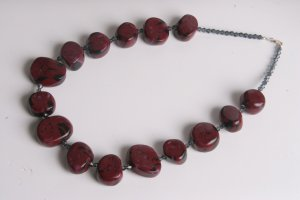 Maroon and Black Necklace
