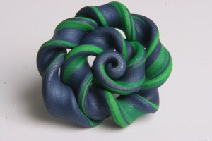 Green and Blue Swirl Ring