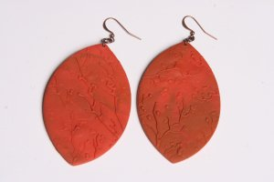 Orange and Rust Earrings