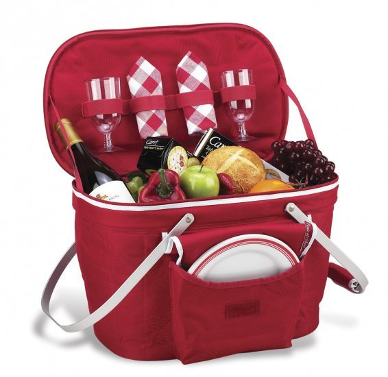 Picnic At Ascot Collapsible Insulated Picnic Basket For 4 : Collapsible picnic basket for at ascot