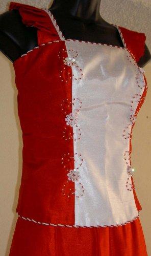 RedWhite 2piece Dress