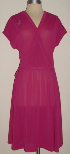 Jody of Californila Vintage Fuchsia Dress Size 14