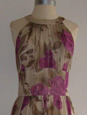 Anne Klein Floral Print Silk Dress: Size 12