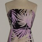 Gap Pink Tropical Print Strapless Dress ~ L
