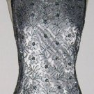 Stnay Silver Beaded Cocktail Dress size 6