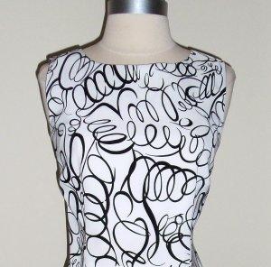 Dress Barn Dresses on Dressbarn Black And White Springs Print Sheath Dress Size 12