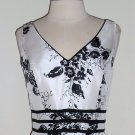 Dressbarn Black and white Floral Print Dress Size 6