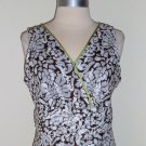 Robbie Bee Brown and White Floral Print Dress Size 12Petite