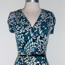 Byerwear Too! Teal and White Print Dress Size M
