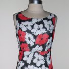 Vintage Red and White Floral Print Dress By On & On ~ Size S