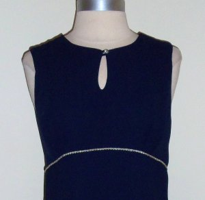 Vintage Rampage Mod Mini Navy Dress Size 11