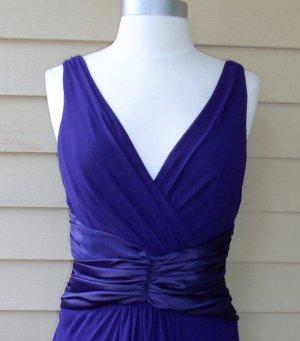 Chadwick�s Purple Chiffon Ruched Dress Size 6