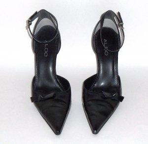 ALDO Black Ankle Strap Stilettos Heels Size 40 (9½)